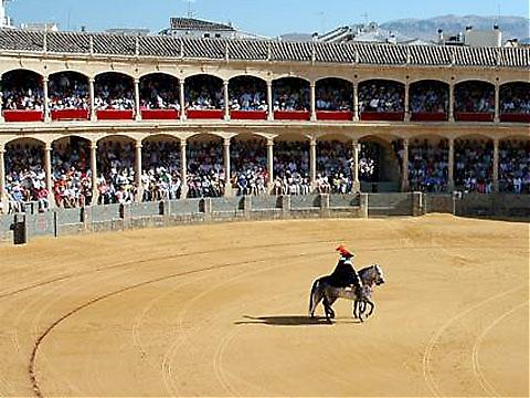 Real Maestranza de Ronda, från 1775, är Spaniens äldsta tjurfäktningsarena.