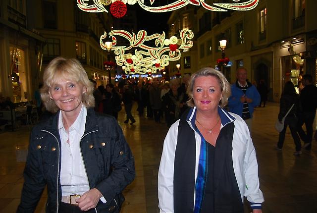 Birgitta Sundén och Rose-Marie Wiberg på Calle Larios.