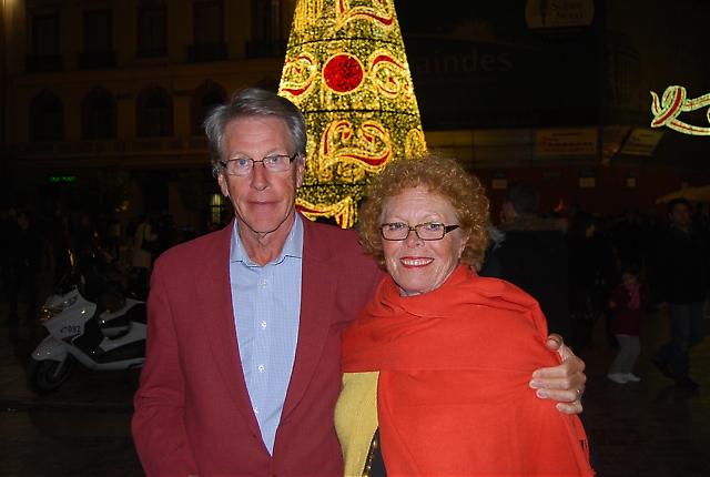 Nils och Ing-Britt Artlöve på Plaza de la Constitución.