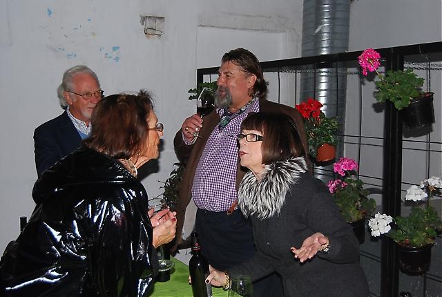 Rickard Enkvist och hans hustru Inga-Lill bjöd på en uppskattad vinprovning innan middagen på Restaurante Alea.