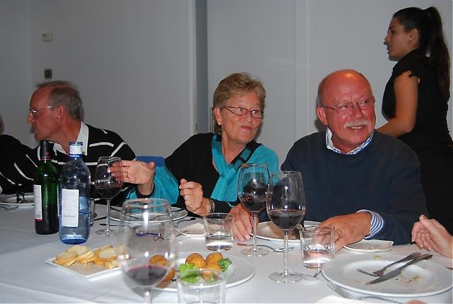 Otto och Tone Solli samt Ulf Lindelöf på Restaurante Alea.