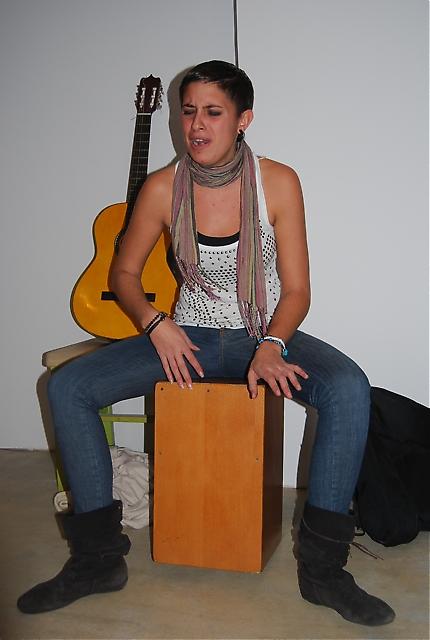 María Pelaez bjöd på kvällens överraskning i form av en fusion av flamenco/chill-out till efterrätten.