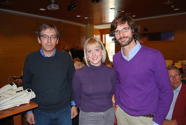 Francisco Lozano och Madelene Andersson från kommunens turistkontor tillsammans med Nacho Mata, Málaga Sensaciones.