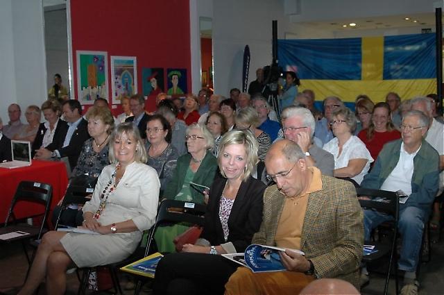 """Fredagens första seminarium """"Spanien som andra hemland"""" väckte stort intresse och var fullbokat."""