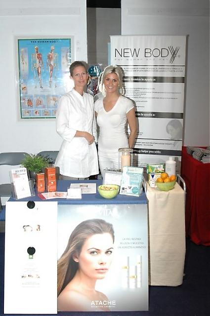 Hälsokliniken New Body visade upp sina tjänster under de två mässdagarna.