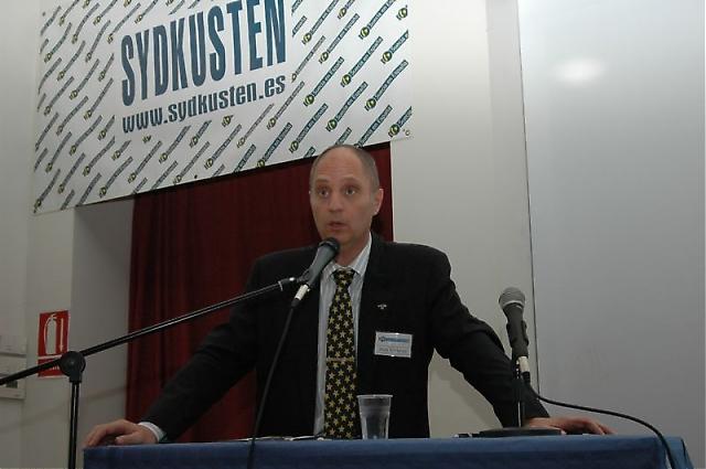 Sydkustens Mats Björkman hade två föredrag på fredagen. Först om rådgivningstjänsten Fråga Sydkusten och på eftermiddagen om Andalusiens historia. Han var även konferencier.