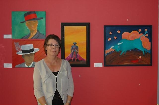 Margit Björklund är en flitig utställare och i Parque Miramar visade hon upp tavlor med både spanska och internationella motiv.