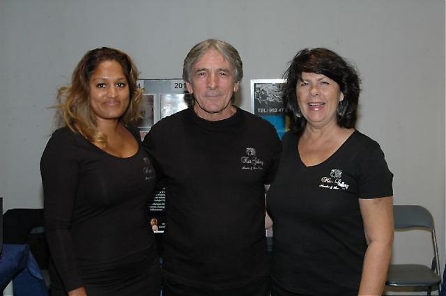 Nina Ohrlander med Amador och Ann-Katrin från Hair Gallery.