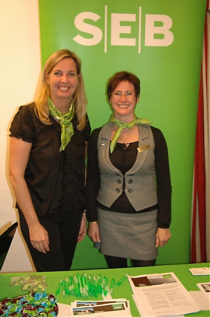 SEB Private Bankings representanter Maj-Britt Møller och Anna Lindelöw.