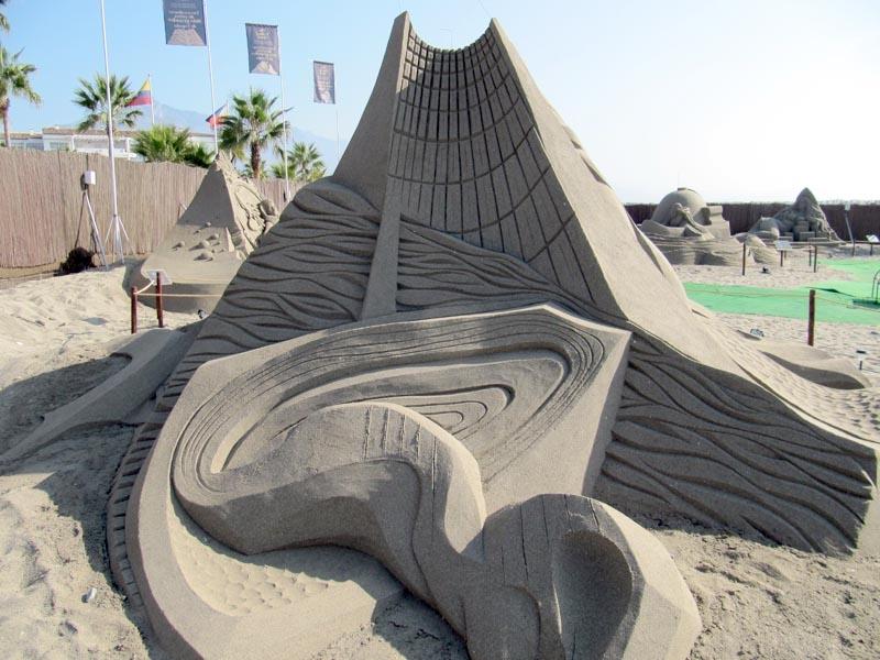 Sandskulptur i utställningen The Grand Sand.