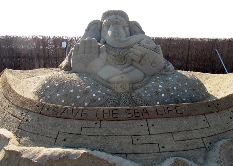 Den indiska elefantguden Ganesha beskyddar livet i havet.