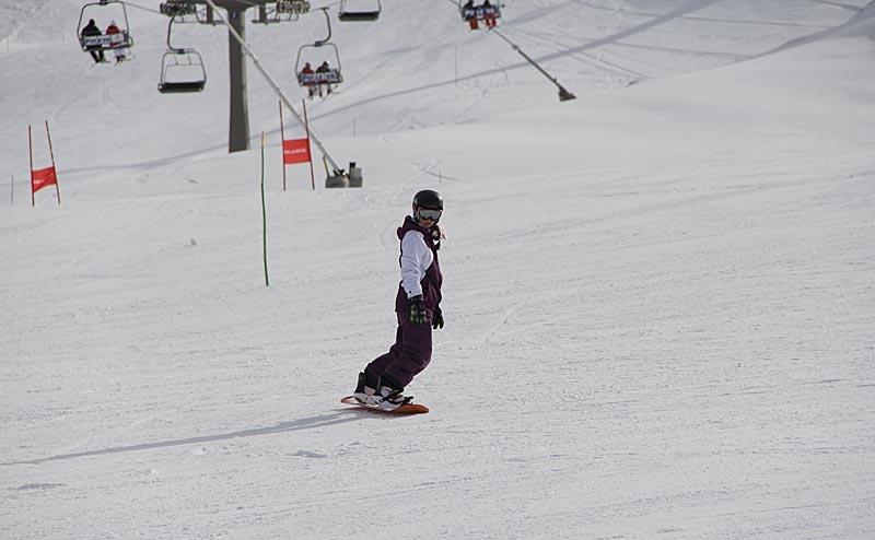 Snowboard är populärt.