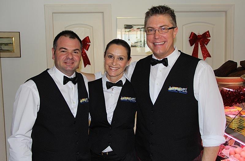 Personalen på MiaDel. Jose-Luís, Maria och Fredrik.