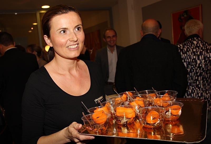 En mängt danska läckerheter serverades.