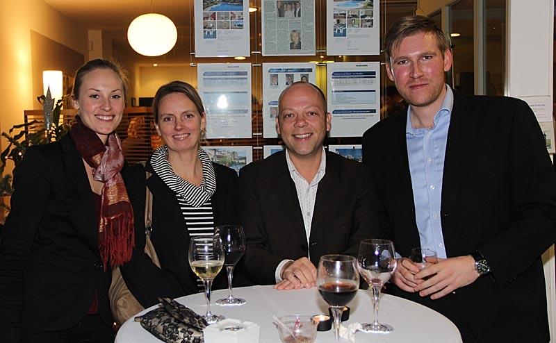 Michael Hedes Pedersen från Nykredit hade fullt upp med att ta emot alla gäster.