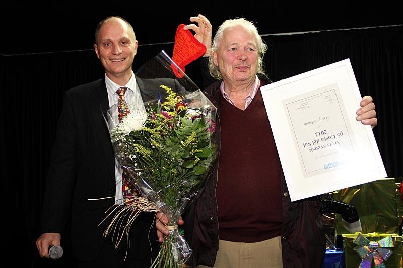 Bengt Sändh mottog utmärkelsen Årets Svensk på Costa del Sol och höll ett humoristiskt tacktal.