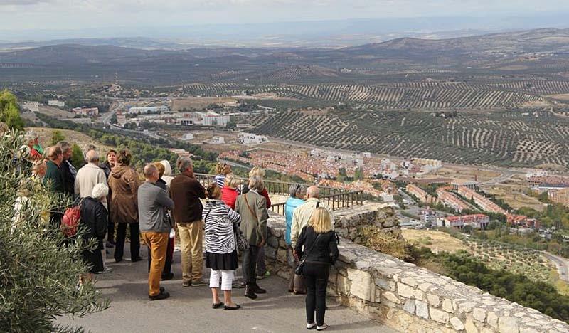 Utsikt från Parador de Jaén.