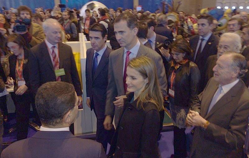 Kronprinsparet Felipe och Letizia invigde 22 januari den 34:e upplagan av turistmässan Fitur, i Madrid.