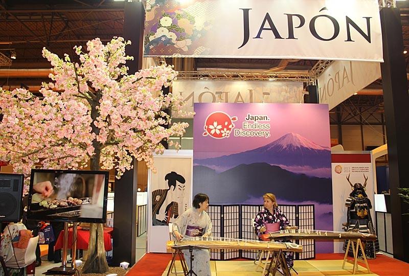Japan hade en av de finaste montrarna i den asiatiska avdelningen.