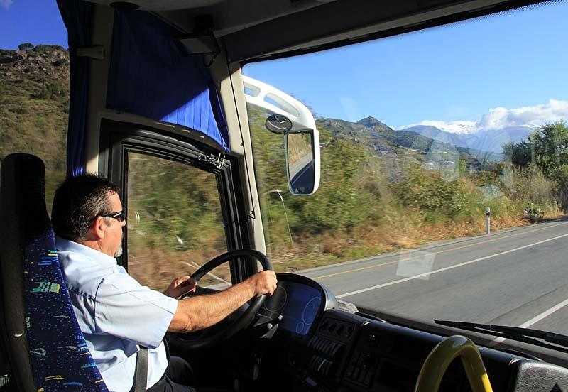 Den omtyckte chauffören Juan, från bussbolaget Paco Pepe, blev som en till i turistgruppen.