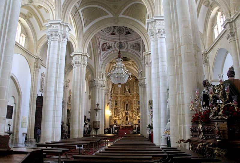 Interiör av katedralen i Baeza.