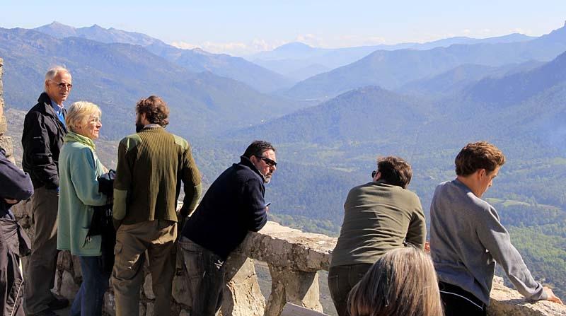 Utsikt över Guadalquivirdalen i naturparken Cazorla.