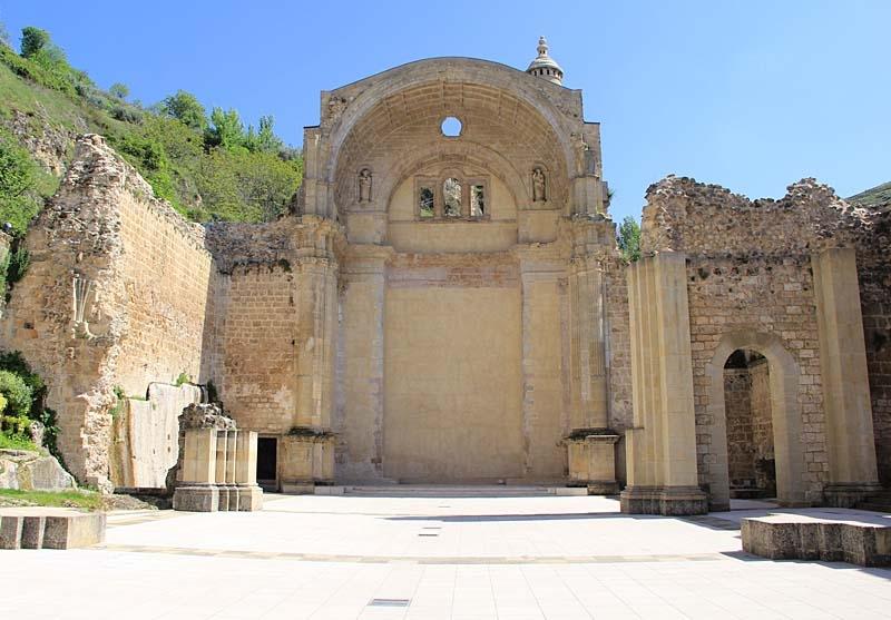 Den olycksdrabbade kyrkan Santa María, i Cazorla.
