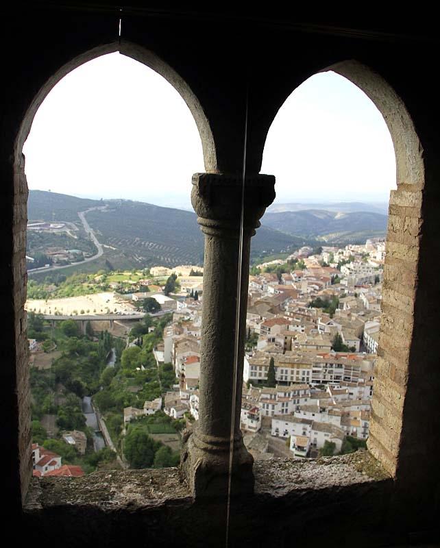 Utsikt över byn Cazorla från det tidigare moriska slottet.