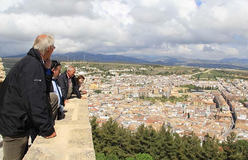 Utsikt över Alcalá La Real, Jaéns sydligaste stad.