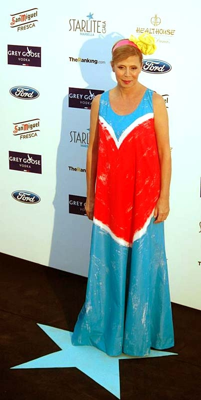 Modedesignern Agatha Ruiz de la Prada.
