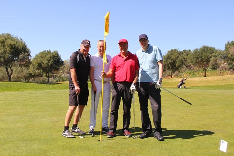 Jörgen Arvidsson, Tryggve Johansson, Tom Knutsson och Mads Schierup Petersen från VP Bank.
