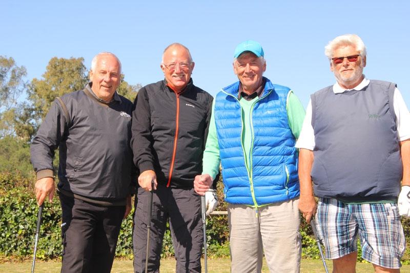 Liss Carlsson, Bengt Fahlström, Rudolf Gruvensjö och Eckhardt Metzner på fyrans tee.