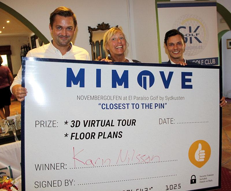 Dagens STÖRSTA pris vann Karin Nilsson. Ett jättelikt presentkort från MiMove för att skapa en digital 3D-version av sin eller valfri bostad.