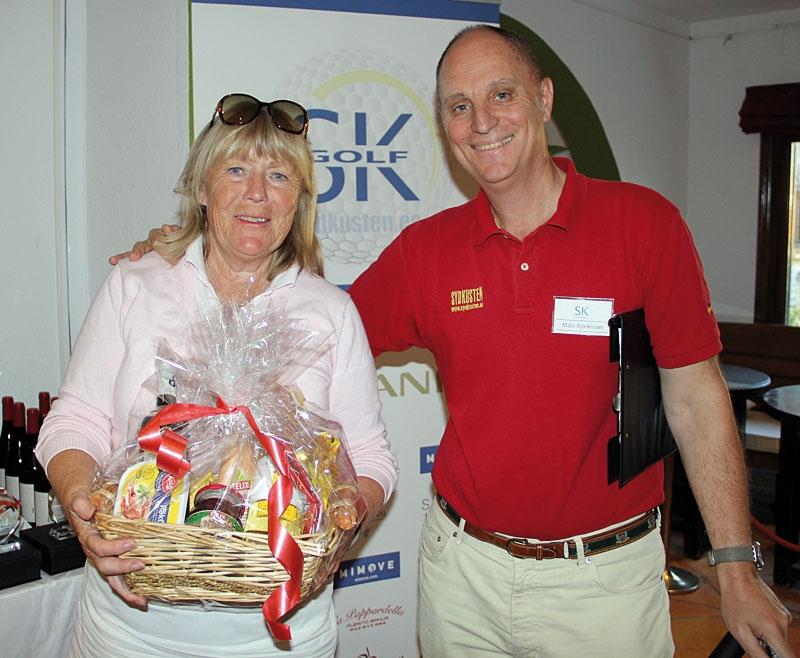 Den fina delikatesskorgen vanns av Küllike Ullman, Som kom närmast flaggan på hål nummer sju.