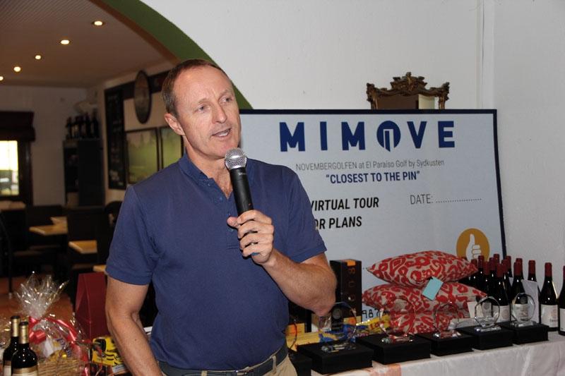 Huvudsponsor på El Paraiso Golf var VP Bank, som representerades på plats av Thomas West Olsen.