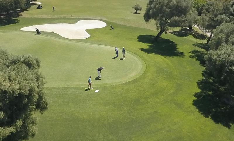 Flygvy från golftävlingen 18 april.