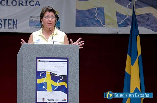 SV: Eva Gevius talade om de svenska turisterna och vad som lockar dem till Spanien.<br /><br />ESP: La experimentada guía Eva Gevius habló sobre los turistas suecos y lo que les atrae de España.