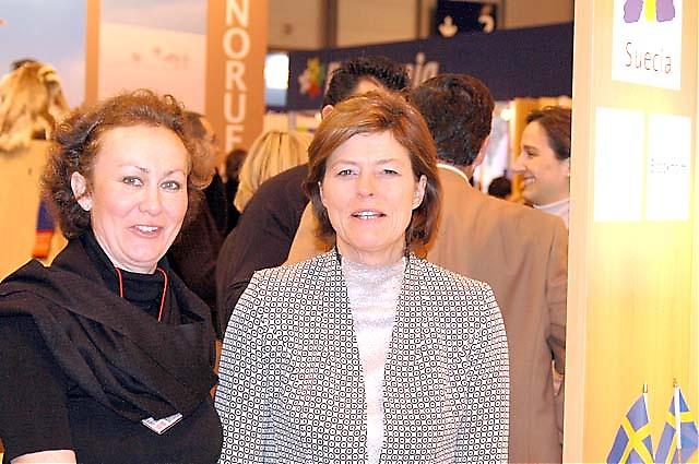 Christina Guttenberger från Stockholms turistkontor med Margareta Gustafsson, Sveriges turistråd i Spanien.