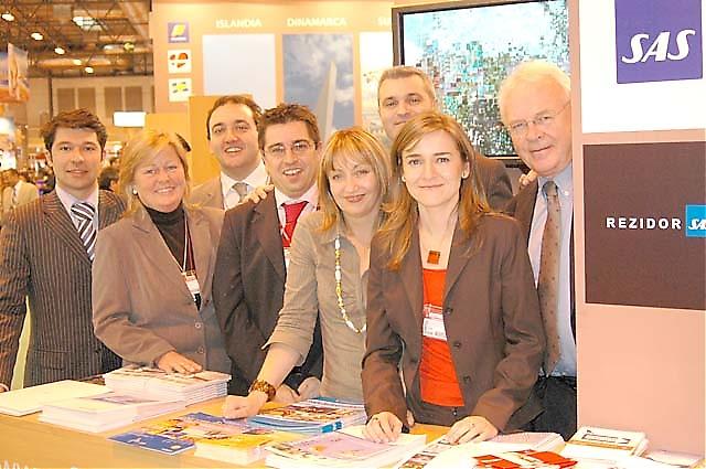 SAS hade en hel armé av representanter. Från vänster Marco, Hege, Tomás, Jorge, Rosa, Daniele, Eva och chefen Ole Johansson.