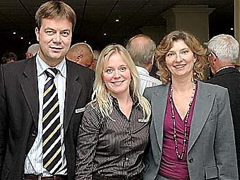 Nykredits representanter Anders Agerberg, Christel Mark Hansen och Siw Mosegaard.