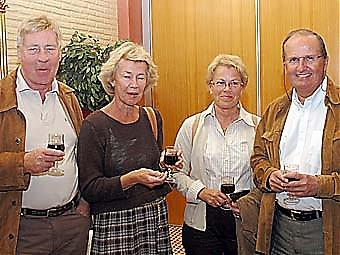 Jan och Britta Trenck med Anki och Thomas Gromer.