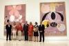 Vid pressvisningen närvarade bland andra Sveriges ambassadör Cecilia Julin, Johan af Klint, ordförande i stiftelsen Hilma af Klint, José Lebrero Stals, direktör för Museo Picasso Málaga samt utställningskommissarien Iris Müller-Westermann.