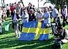 HEJA SVERIGE  Det svenska laget hade stort stöd av många landsmän i publiken.