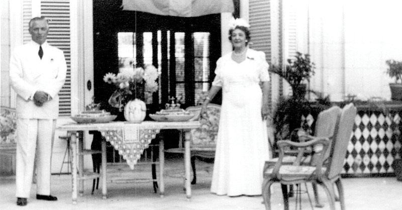 Erik och Alexandra Wisén upplevde hela det spanska inbördeskriget och fick sedan förflyttning till Kuba, där denna bild togs. Foto: Svenska riksarkivet