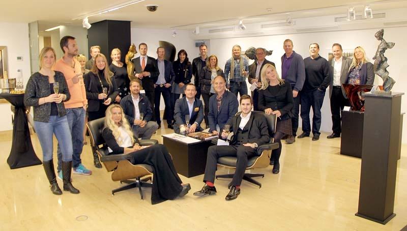 Svensk-Spanska Handelskammarens deltagare fick lära sig mycket intressant om konstens fascinerande värld, 18 februari på Timeless Gallery.