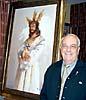 José Jiménez är ansvarig för El Cautivo, en av de religiösa föreningarna i Málaga. Här framför originalmålningen till samfundets Semana Santa-affisch 2005.