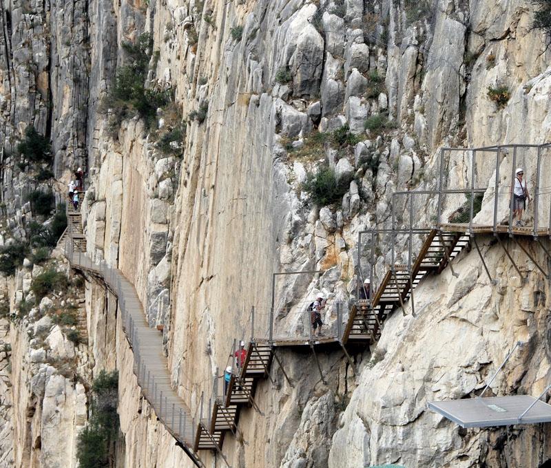 Caminito del rey är en av Europas mest svindlande  vandringsleder.