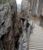 Landsgången slingrar sig genom bergspasset Los Gaitanes.