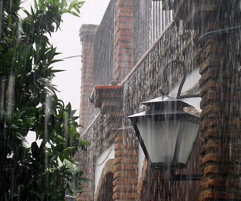 Kraftiga regnskurar väntas främst under söndagen.