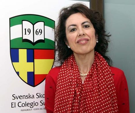 Elvira Herrador Quero arbetar sedan 23 år med integration på Svenska skolan i Fuengirola.